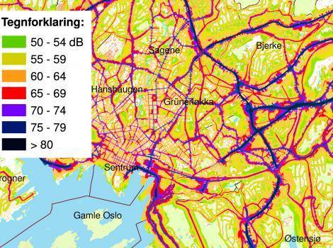 topografisk kart oslo Støykart / Fakta   Norsk forening mot støy topografisk kart oslo